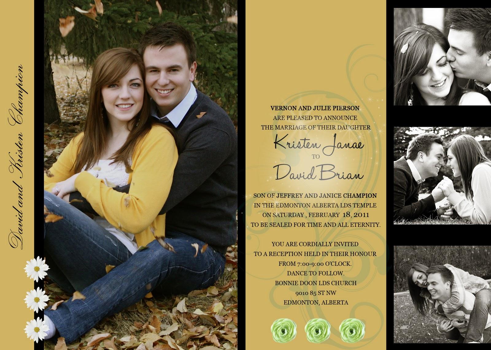 From British Columbia Canada.....: WEDDING INVITATIONS