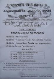 Rio Bonito do Iguaçu:Vem aí um grandioso torneio de Futsal na Comunidade de Campo do Bugre