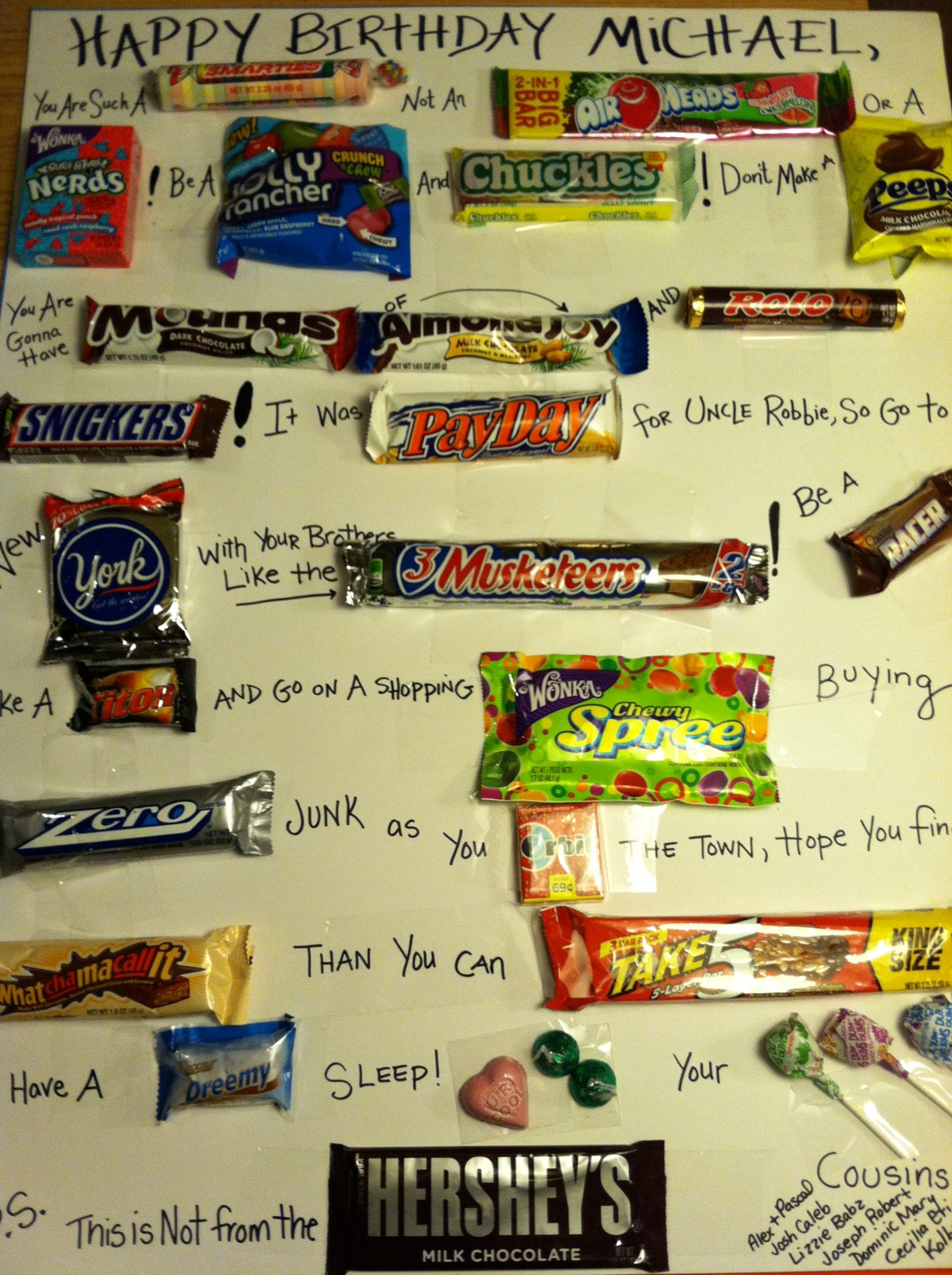 Candy Cards For Husband Pictures to Pin PinsDaddy – Candy Birthday Cards