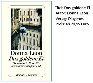 Donna Leon Das goldene Ei