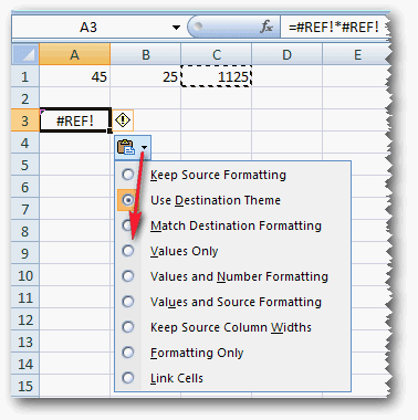 Copy paste angka dari rumus