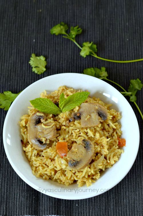 how to make mushroom biryani in pressure cooker