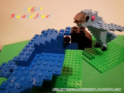 LEGO Creation of Blu and Jewel from the movie Rio, Blu, Jewel, Rio