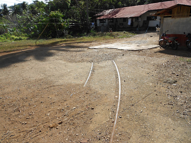 Tram rails on Corregidor.
