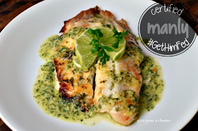 Tilapia with Cilantro Ginger Sauce by Give Peas a Chance for #GetHimFed on www.anyonita-nibbles.com