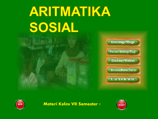 Download Materi Pembelajaran Aritmatika Sosial Format Power Point