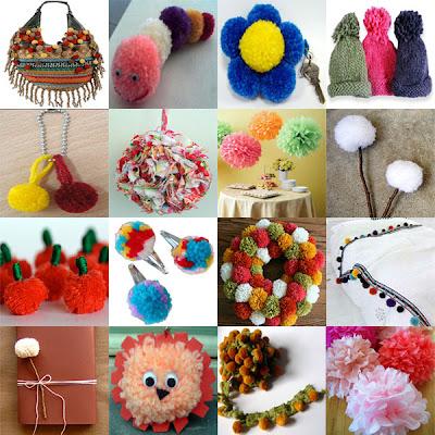 Idéias de artesanatos para fazer com pompons de lã