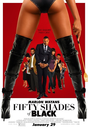 Poster Of Fifty Shades of Black 2016 English 300MB Cam  Free Download Watch Online