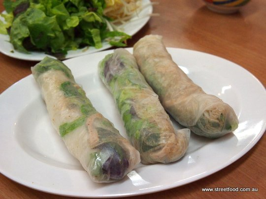 Pork Skin Rolls 7 50 Like Your Classic Rice Paper Roll But Chockas With Shredded Pork Skin And Pieces Of Roast Pork It S Quite Plain And Dry Best