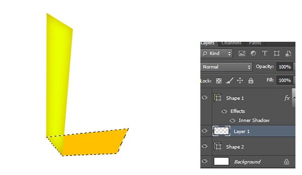 teks efek folded, teks efek photoshop