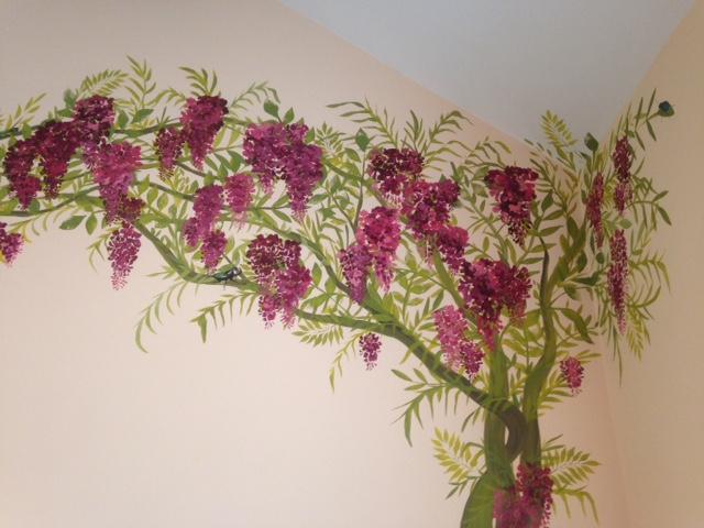 Master Bedroom Murals joanna perry - top mural artist, hand painting murals across the uk.