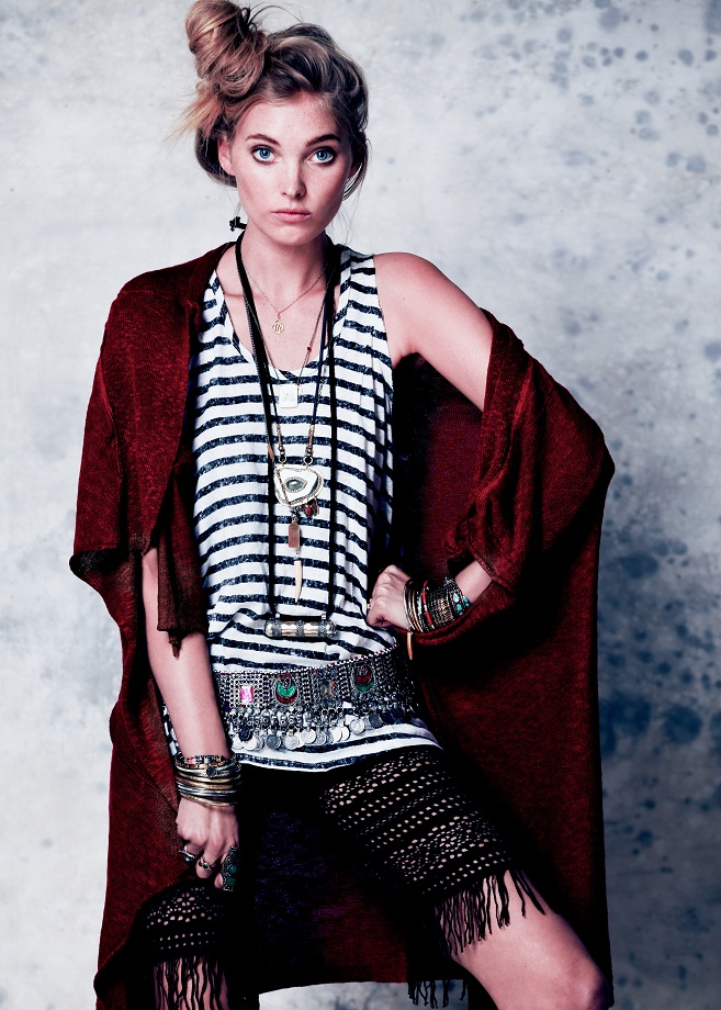 Elsa Hosk is a Roaming Beauty in Free People's February Lookbook 2013
