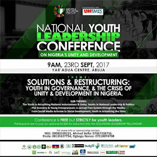 Nigeria Solution Group sets the stage for her National Youth Leadership Conference.