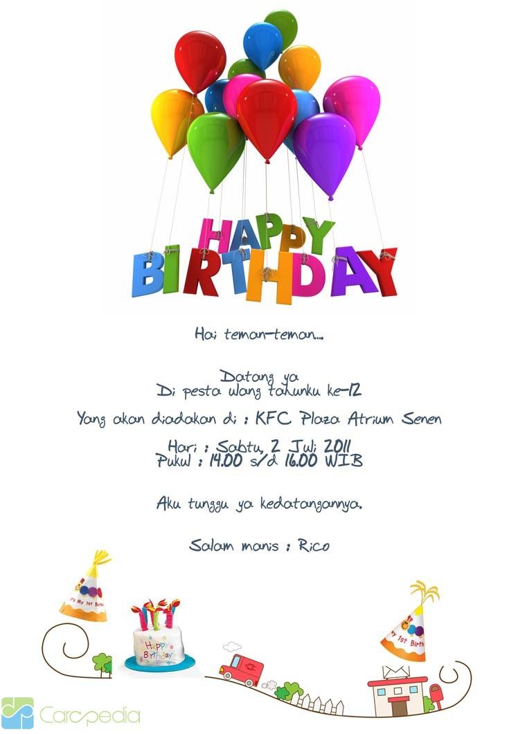 Berikut ini adalah contoh surat undangan ulang tahun.