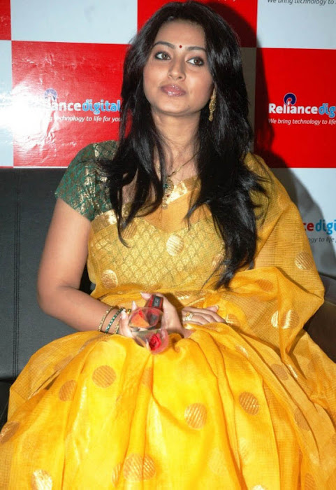 sneha in yellow saree from india actress pics