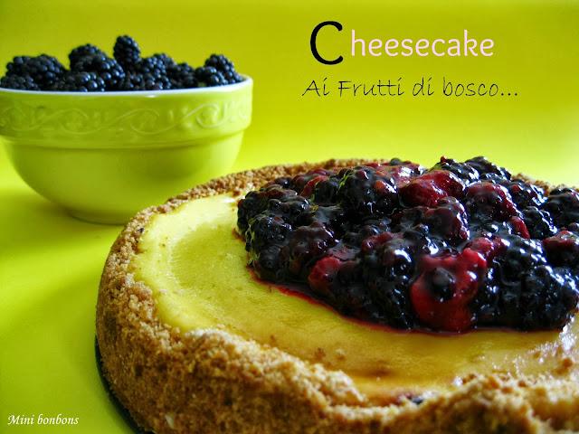 cheesecake ai frutti di bosco • berries cheesecake