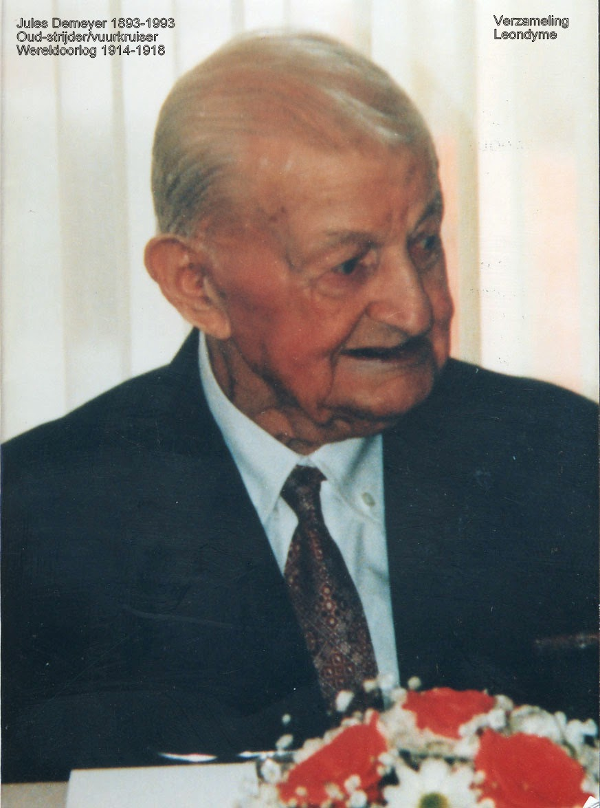 Oud-strijder en vuurkruiser Jules Demeyer 1893-1993. Verzameling Leondyme