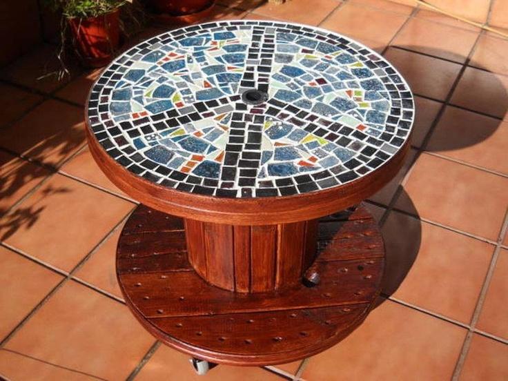 Reciclar reutilizar y reducir mesas de bobinas de cable for Como reciclar una mesa