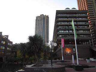 The lakeside at London's Barbican Complex