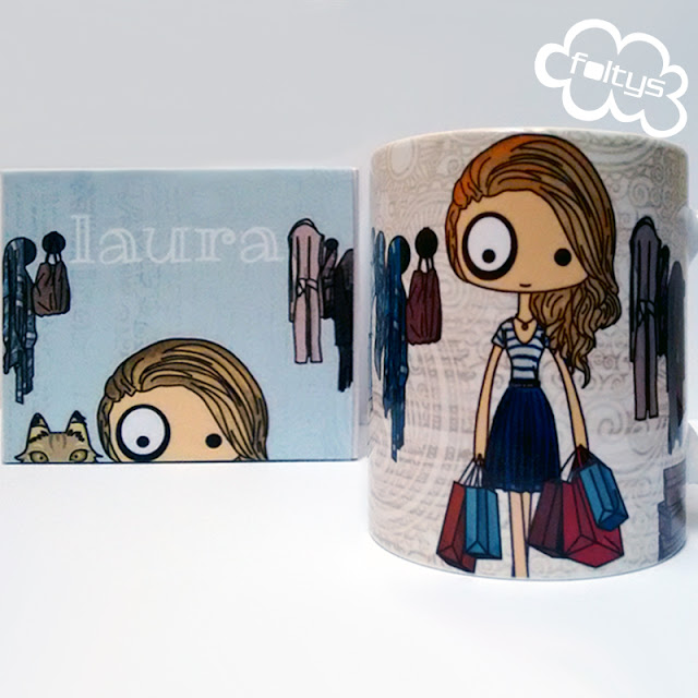 taza personalizada foltys vs Laura | custom mug handmade with love