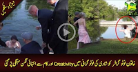 Wedding photographer falls into LAKE while.