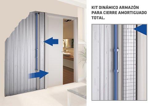 Kit Para Puertas De Baño: para el cierre ralentizado (frenado) de la puerta corredera