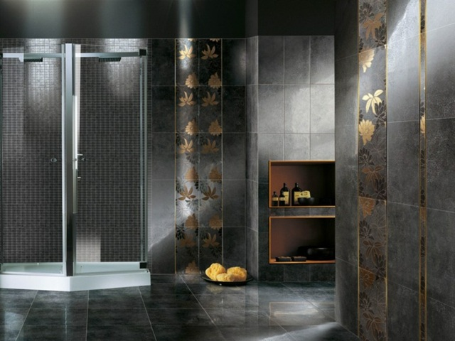 luxury golden bathroom tile patterns and designs