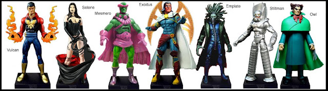 <b>Wave 10</b>: Vulcan, Selene, Mesmero, Exodus, Emplate, Stilt-Man and Owl