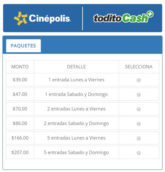 Blog oficial todito cash for Cine capitol precio entrada