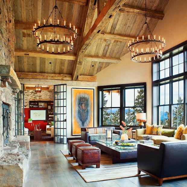 Rustic Mountain Home Interior Design