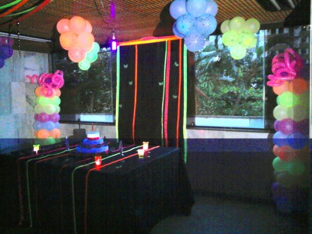 decoracao festa neon:Coração Festas: Festa Teen – com Balões Neon