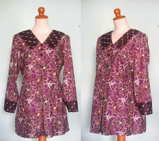 Contoh Baju Hamil Pesta Batik Modern Terbaru 2015