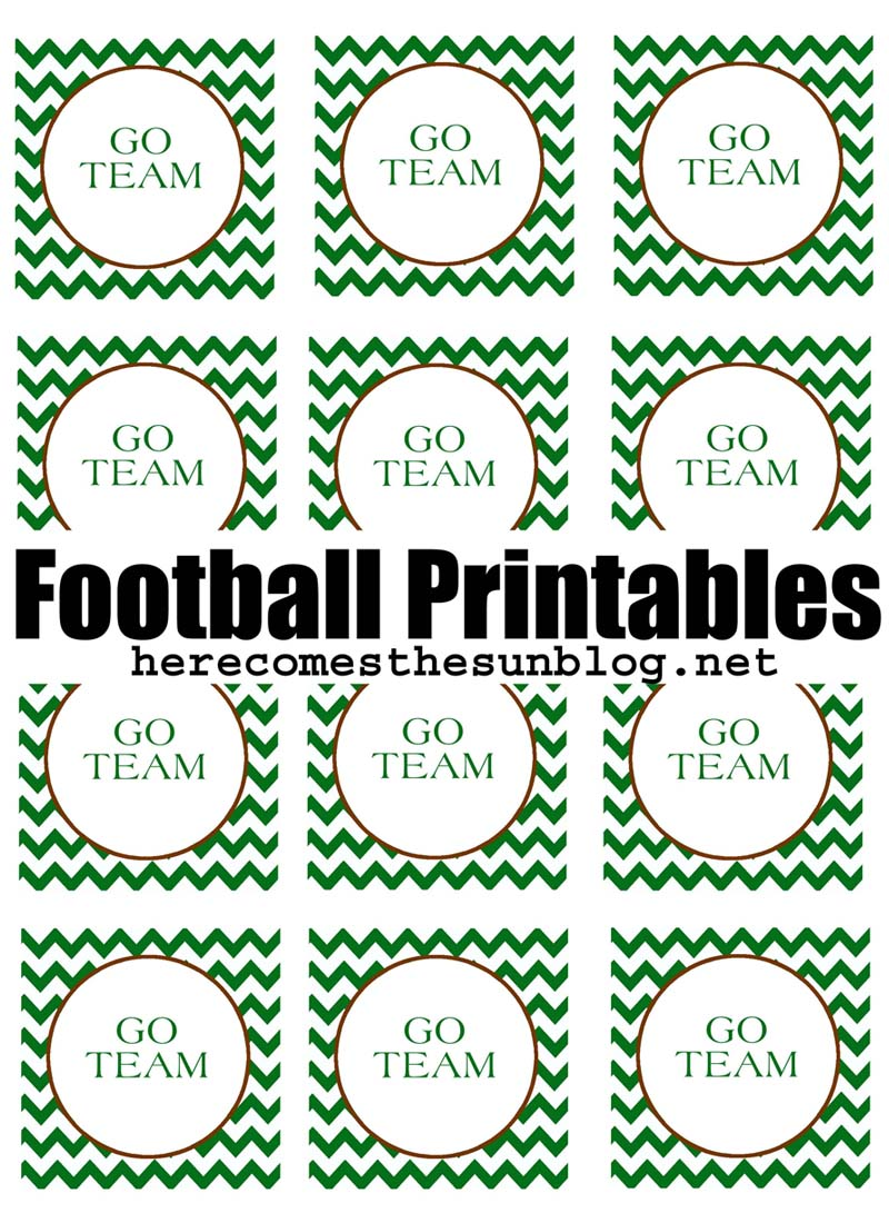 It's just an image of Amazing Free Football Printables