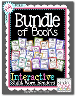 Kindercraze Interactive Sight Word Readers Bundle of Books