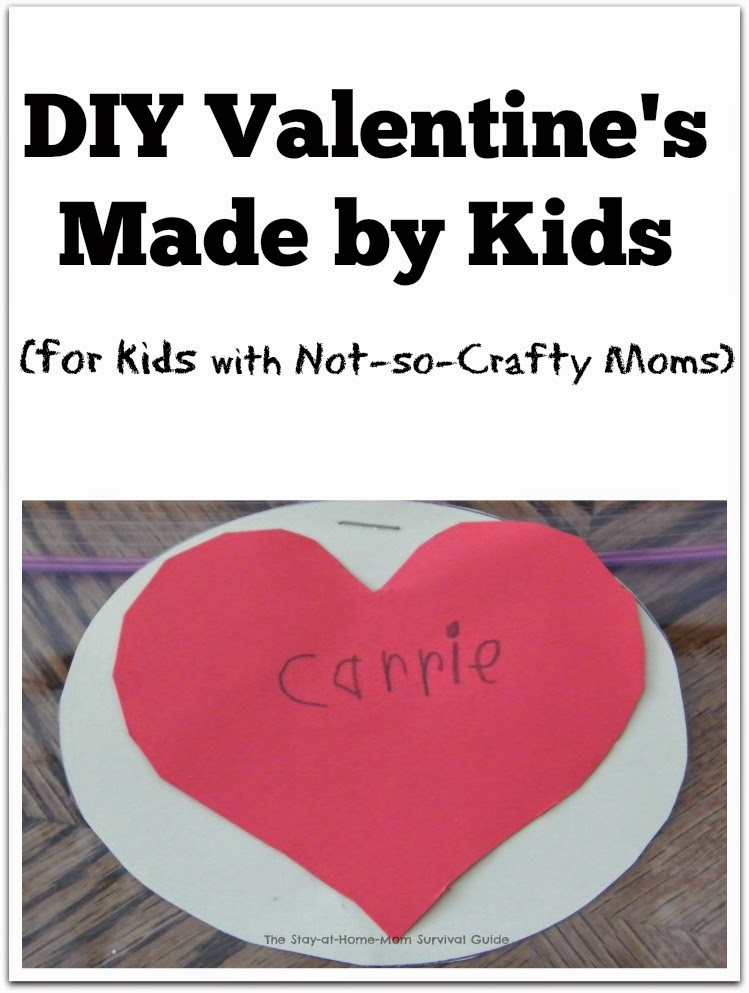 Are you not a very crafty mom? Or looking for a really simple homemade Valentine idea? This will work!