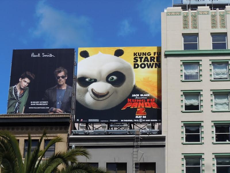 Kung Fu Panda 2 stare down billboard