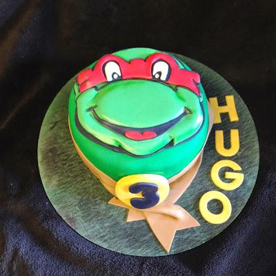 tarta fondant; tarta decorada; tarta tortuga, tarta ninja; tarta tortuga ninja