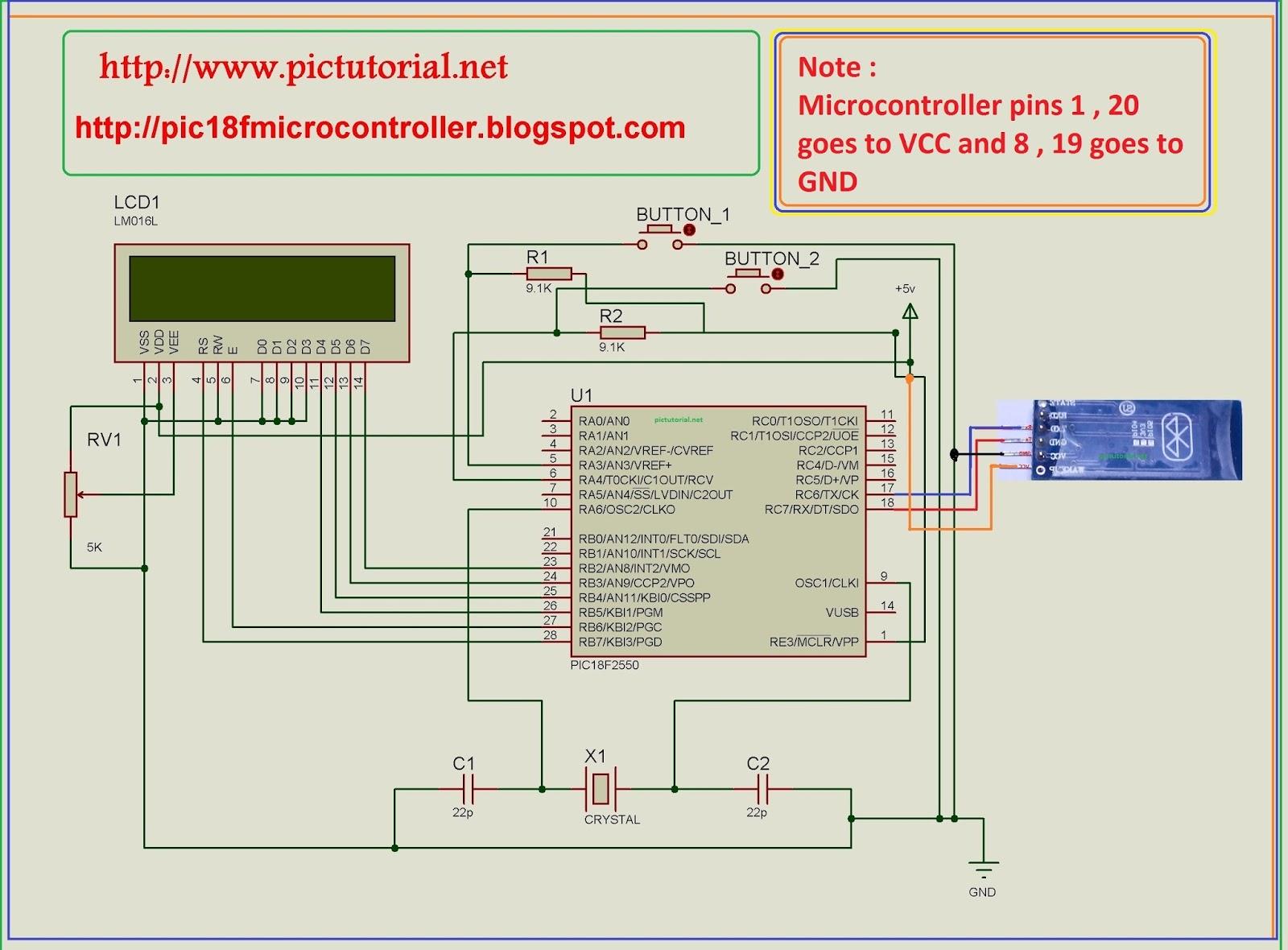 Bluetooth Module Hc 06 Interfacing With Pic Microcontroller Step Circuit Diagram