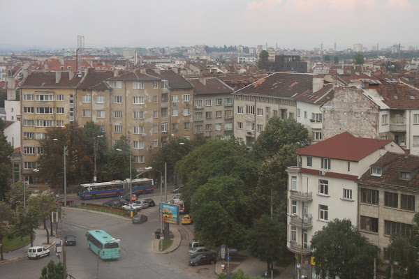 Sofia, Bulgaria from a hotel window