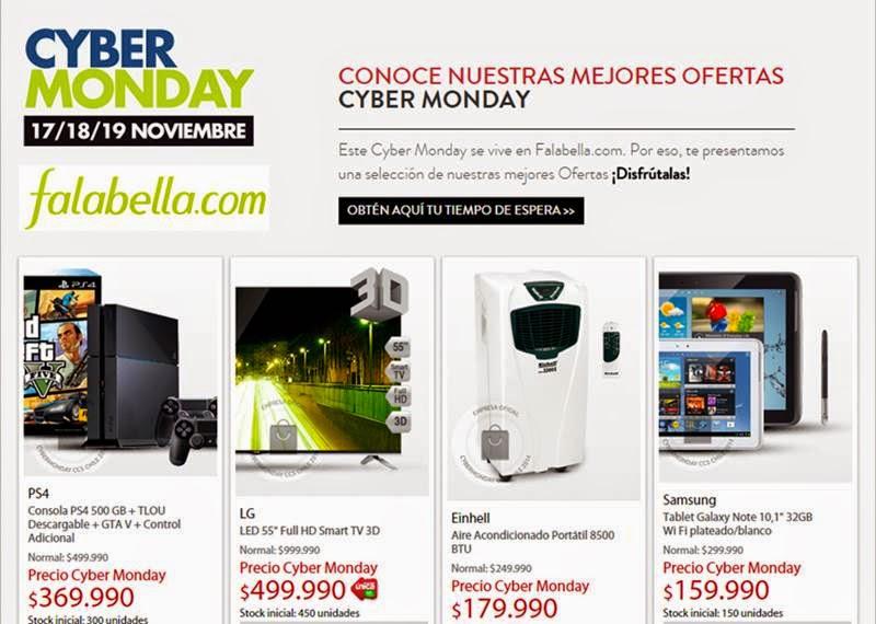 ofertas cyber monday 2014 falabella