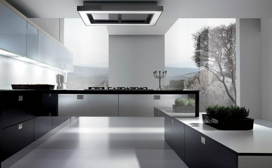 Cuando la zona de cocci n es el centro de mando cocinas for Cocina blanca y negra