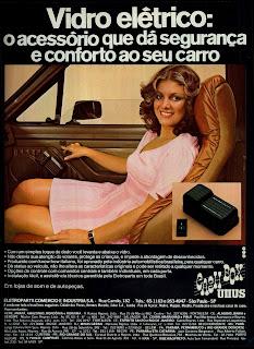 propaganda vidro elétrico Cash Box - Unus - 1979. propaganda anos 70. propaganda carros anos 70. reclame anos 70. Oswaldo Hernandez.