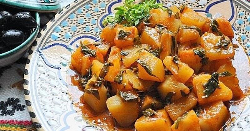 La cuisine alg rienne batata m chermla - La cuisine algerienne samira ...