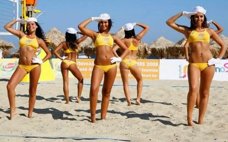 cheerleaders do Vôlei de Praia
