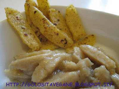 cips, funghi, laccare, mostarda, polenta, ricette vegan, Secondi, seitan, spiedini, straccetti, tartufo,