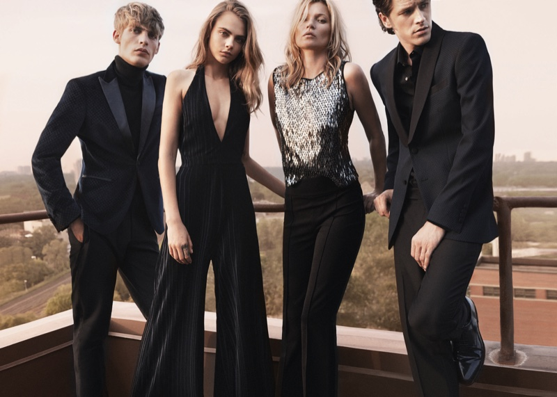 Mango Evening 2015 Campaign starring Kate Moss and Cara Delevingne