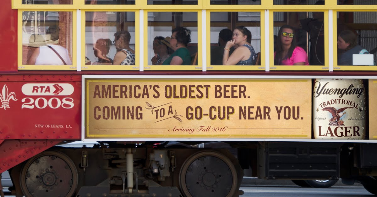 Yuengling Finally Comes To New Orleans, via Cerberus