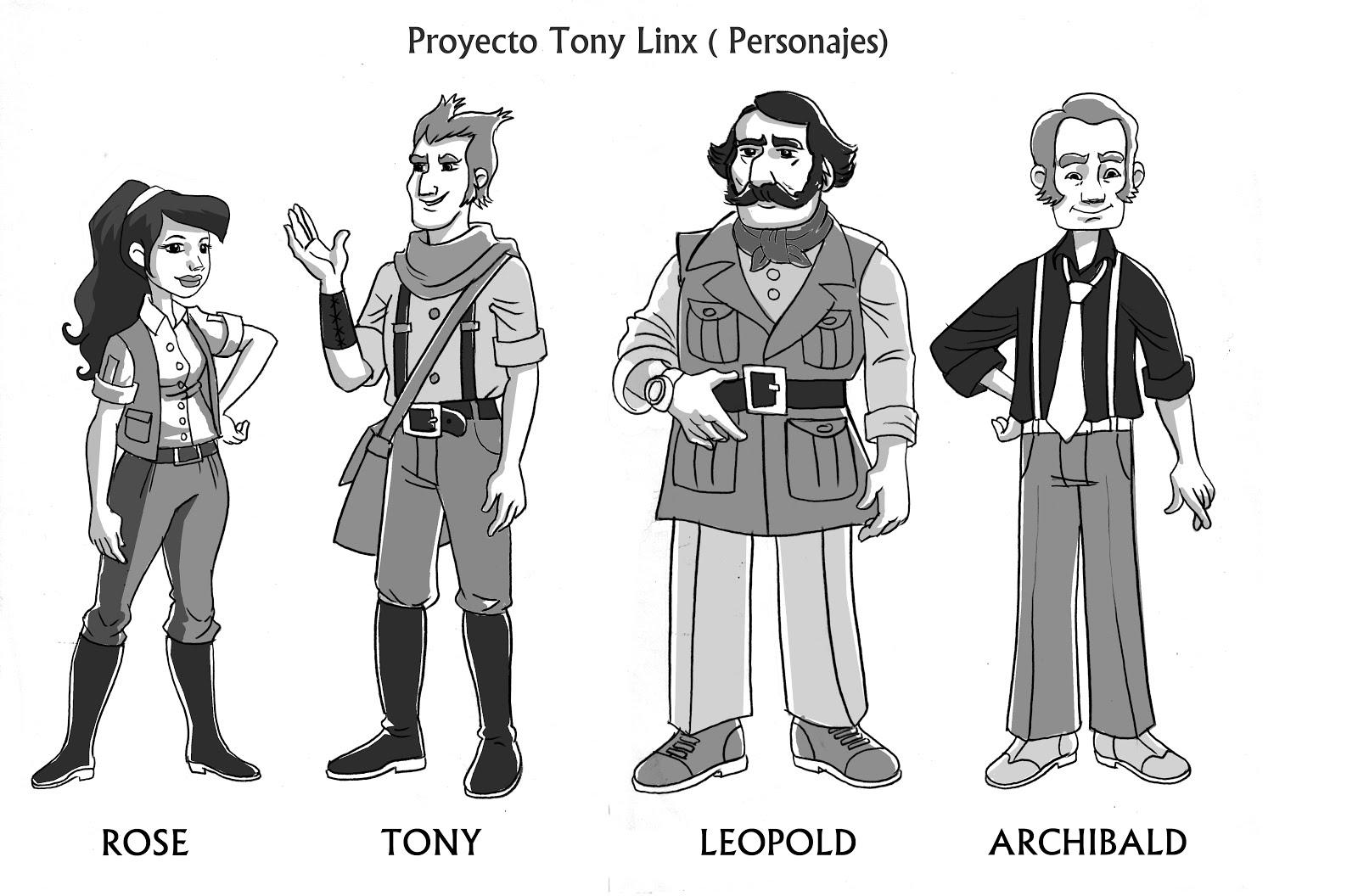 Personajes Para libro de TonyLinx