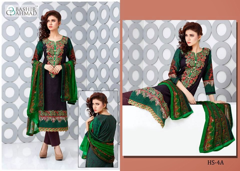 Haseen embroidered lawn 2015