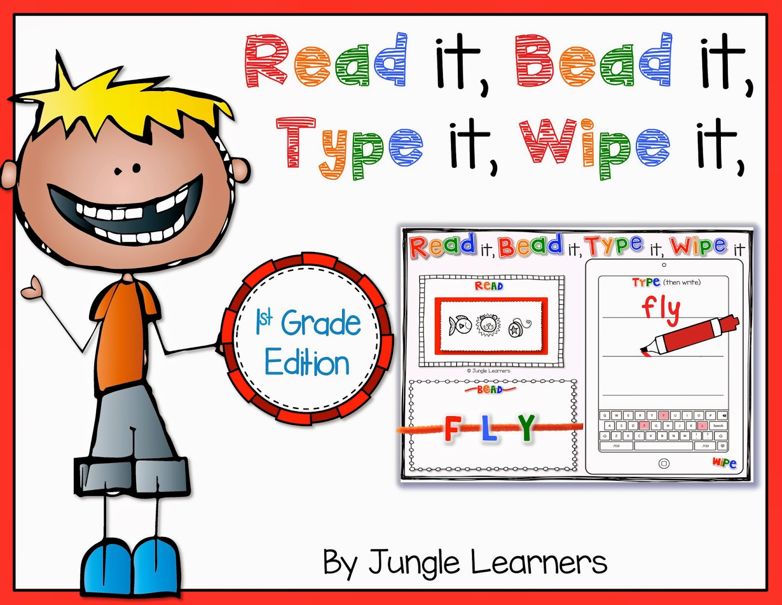 Read it, Bead it, Type it, Wipe it [1st Grade Edition]